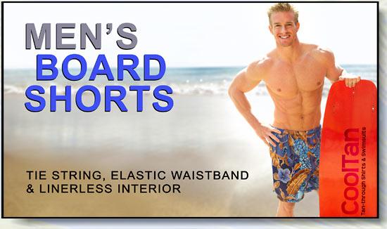 945b2ecc6e Mens Swimwear, Swim trunks and Shorts. Cooltan tan-through swimwear!
